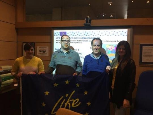 Reunión de la UEx con los coordinadores del proyecto LIFE Biodehesa