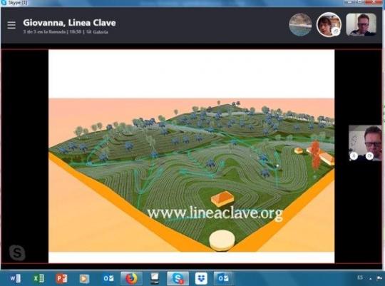 Reunión por Skype entre UNISS, Linea Clave España y Volterra