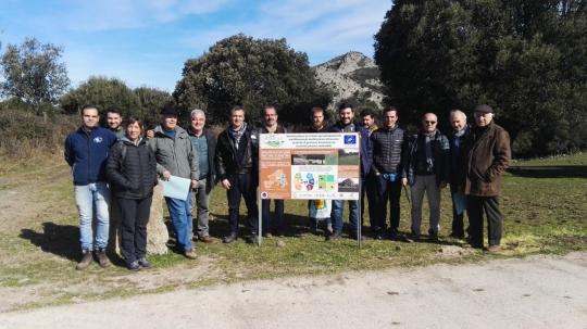 Implementación en la finca Elighes Uttiosos en Cerdeña (Italia)
