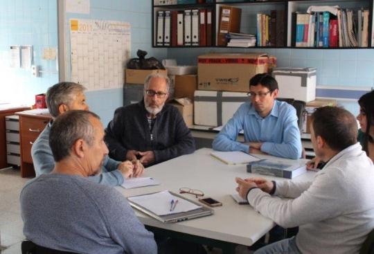 Reunión de coordinación de trabajos en la finca piloto Muñovela